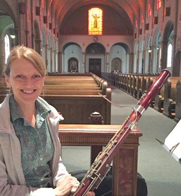 Lisa Nauful with her bassoon